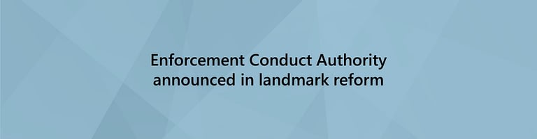 Enforcement conduct authority announced banner image